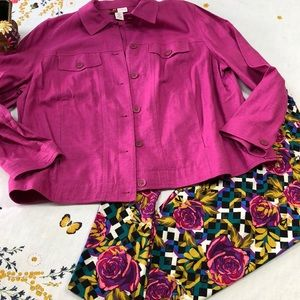 Jennifer Moore Collection pink jacket 16W.